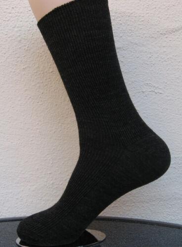3 Paar Damen Socken ohne Gummi 90/% Wolle schwarz superweich 35 bis 42