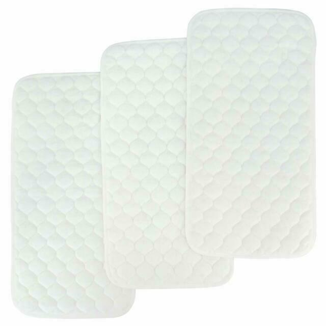 White Hatch Baby Waterproof Changing Pad Liners 3 Count