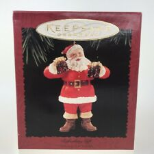 QX4067 Refreshing Gift Coca Cola Santa 1995 Hallmark Keepsake Ornament