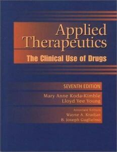 applied therapeutics the clinical use of drugs free download pdf