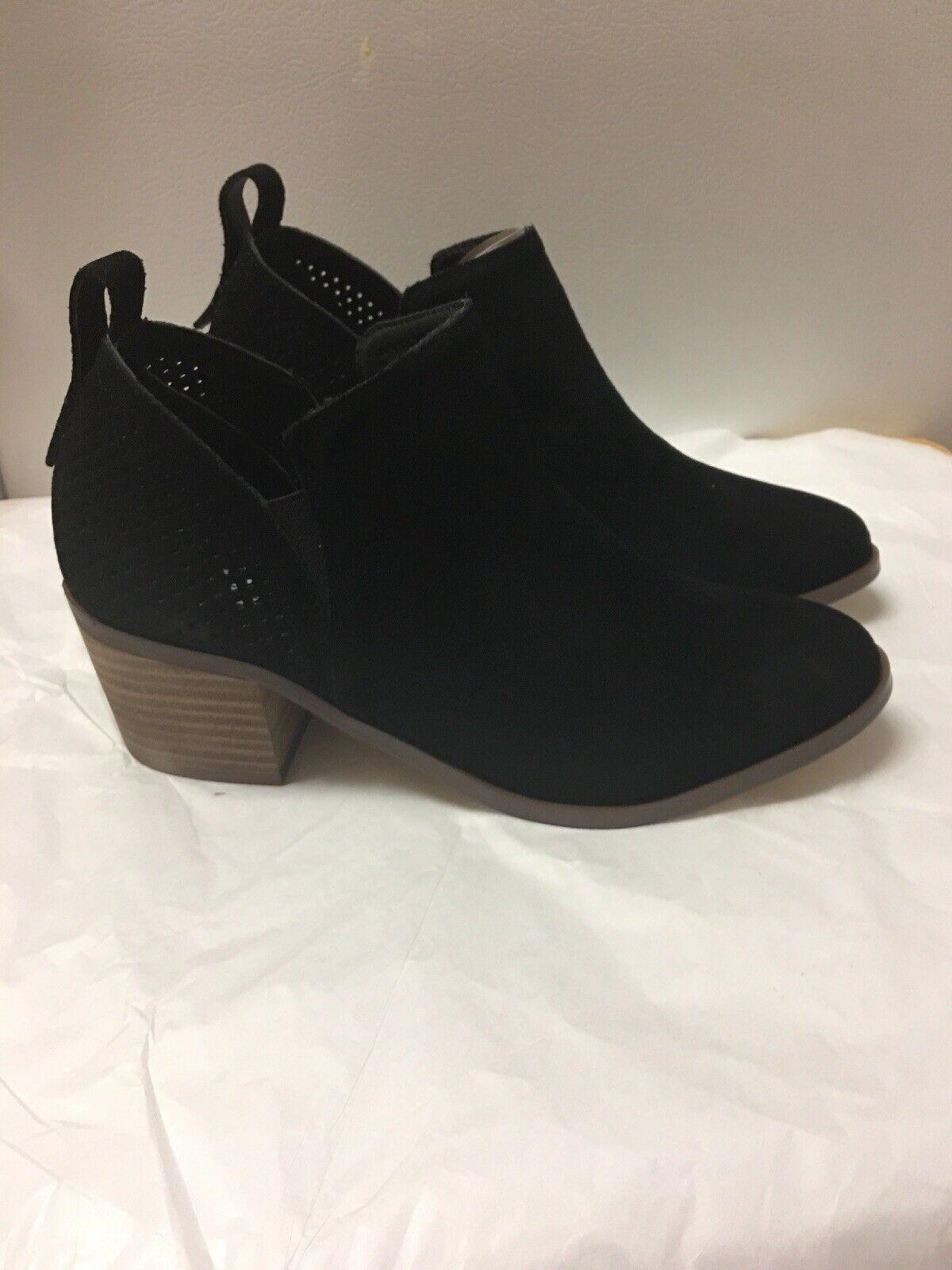 Steve Madden Negro de cuero de gamuza ruebey botines botas