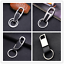 Men Creative Metal Leather Key Chain Ring Keyfob Car Keyring Keychain