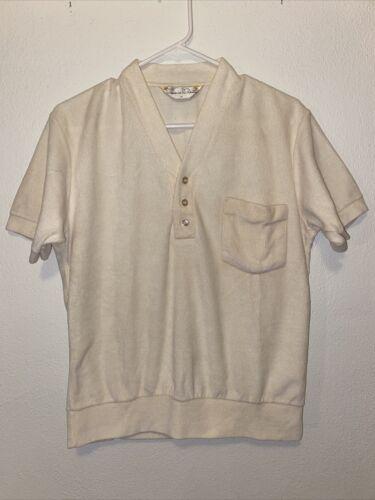 Vintage 70s Mens Oscar De La Renta Terry Cloth Cre