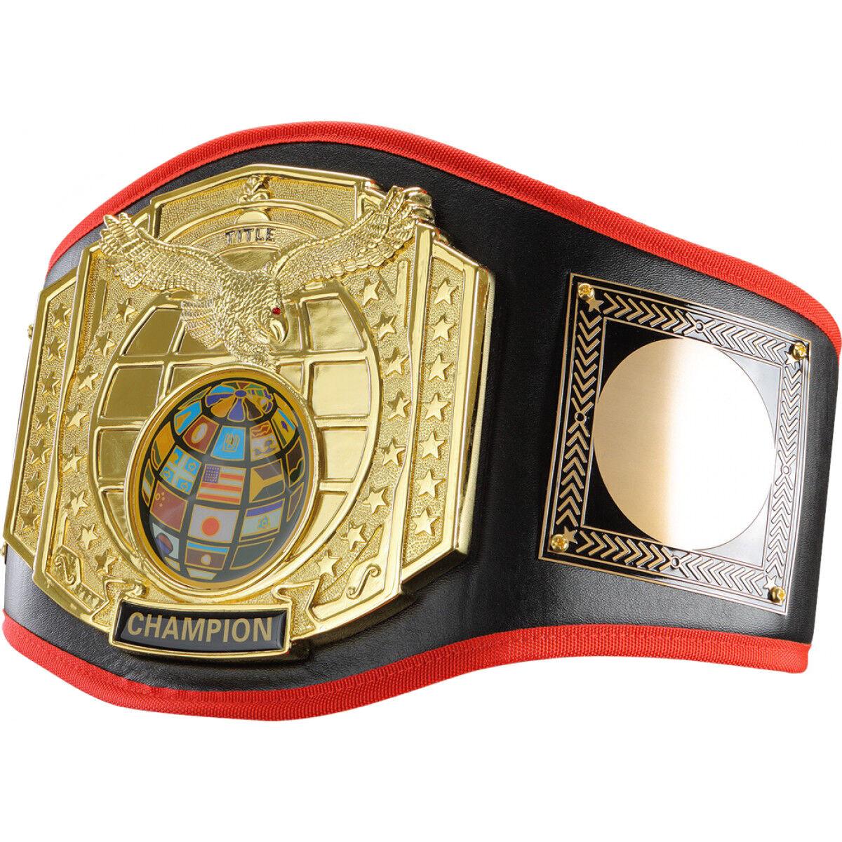 Titel Boxing Gold-Plated Centerplate Leather Platinum Titel Belt