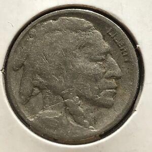 USA-1916-D-Buffalo-Nickel-5-Cent-Denver-Gute-Erhaltung-Selten-11079