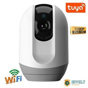 TELECAMERA IP WIFI FULL HD PER INTERNO AUDIO BIDIREZIONALE PRICACY AUTO TRACK