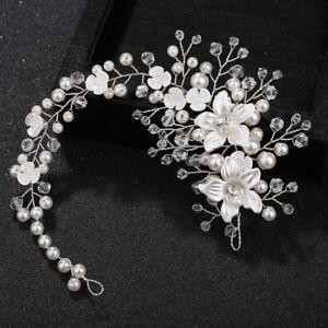 Wedding-Women-Bride-Flower-Headband-Floral-Pearl-Jewelry-Hair-Band-Decoration