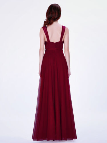 Ever-Pretty US Bridesmaid Wedding Dress Long V Neck Mesh Party Prom Gown 07303