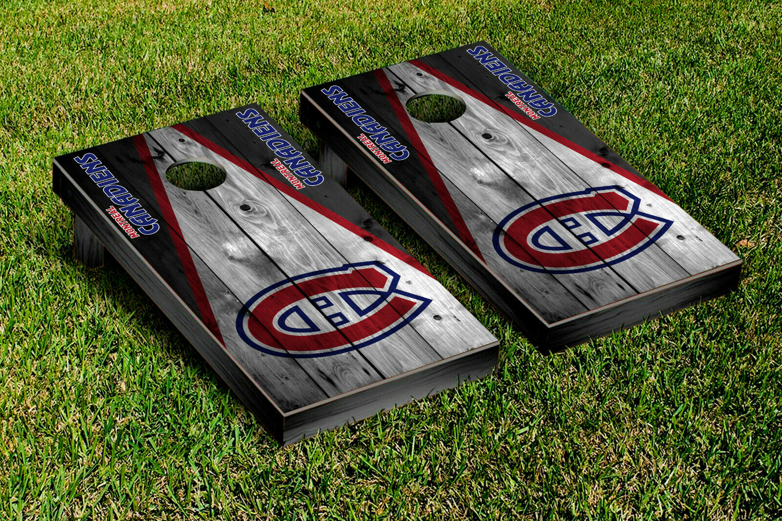 Montreal Canadiens Cornhole Wrap Vinyl Sheets For Wrapping Cornhole Boards