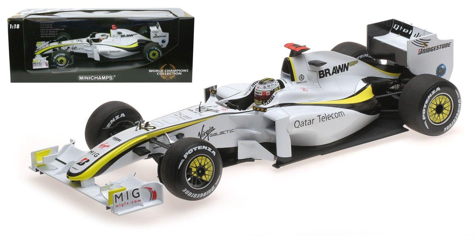 Minichamps Brawn BGP001 2009 - Jenson Button 2009 F1 World Champion 1 18 Scale