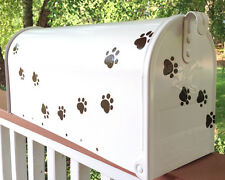 Hand Painted Mailbox FREE SHIPPING Post Mount Fun Pet Paws animals dog cat
