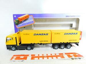 Bx284-1-1-55-siku-3424-contenedores-camion-remolcarse-Man-danzas-Post-muy-bien-embalaje-original