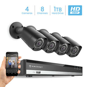 Details about Amcrest Full-HD 1080P 8CH Video Security System 1TB -  AMDV10818-4B-B-HDD