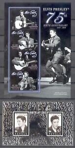 Tuvalu-2010-Elvis-Presley-The-King-75-Geburtstag-Silberfolie-komplett