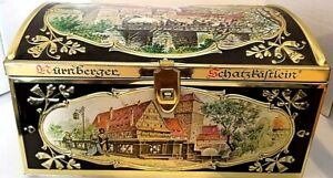 Nurnberger Schatzkastlein Gingerbread Tin Box Gottfried Wicklein Nurnberg German