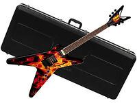 Dean Dime O Flame Ml Electric Guitar W/ Abs Case - Dimebag - Fire - Floyd