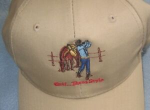 Details about Golf Texas Style Cowboy Western snapback cap sewn design One  Size adjustable