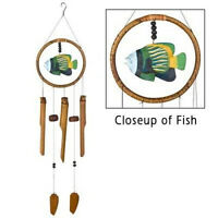 Tropical Fish Wood & Bamboo Ring 35 Long Wind Chime Woodstock Chimes Crbe608