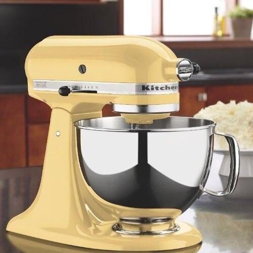 Nouveau Majestic jaune KitchenAid stand mixer Tilt 4.5 - Quart KSM 85 pbmy METAL 10-spd