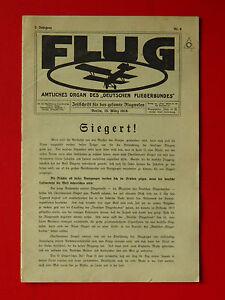FidèLe Ancienne Revue Vol Deutscher Fliegerbund Siegert 2. Année Nº 6 (3524-afficher Le Titre D'origine Apparence éLéGante