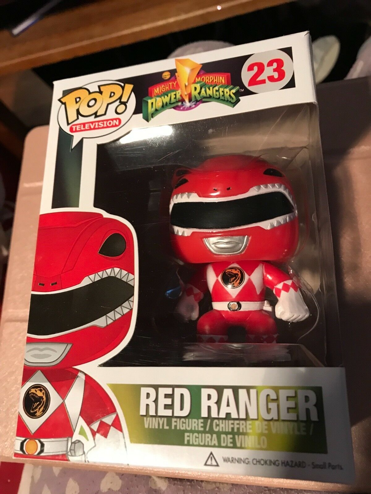 "POP VINYL POWER RANGER RED "" vaulted , retired "" ORIGINAL"