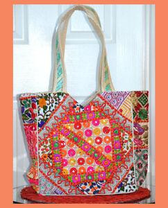 Colorful-Silk-Floral-Motif-Mirror-Embroidered-Beige-Cream-Shoulder-Hand-Bag