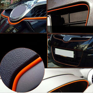 5m orange auto accessories car interior decorative strip chrome shiny universal ebay. Black Bedroom Furniture Sets. Home Design Ideas