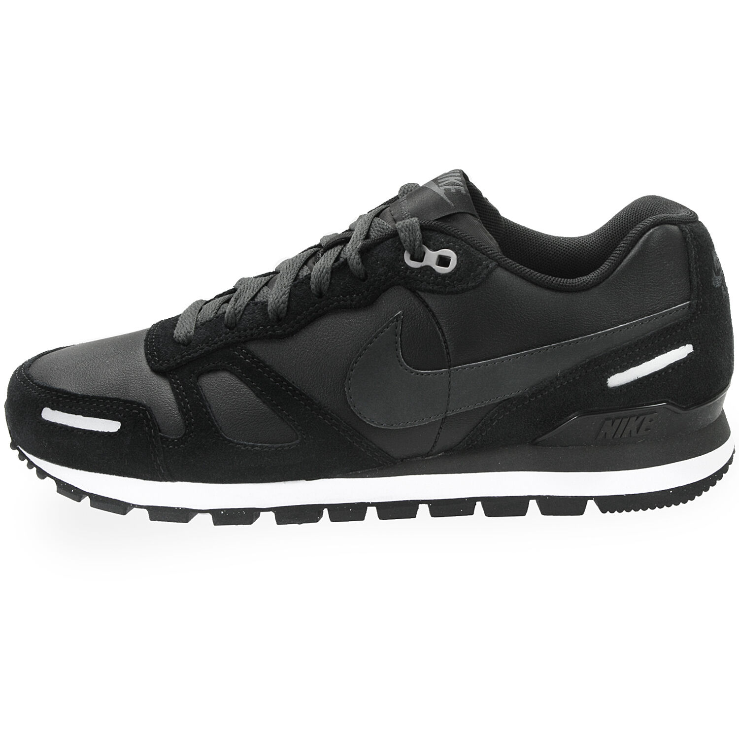 shoes NIKE AIR WAFFLE TRAINER LEATHER - 454395 nere