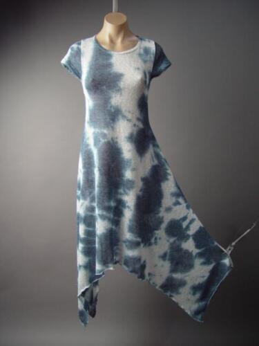 Tie-Dye Style Pattern Handkerchief Hem Top T-Shirt Dress 134 mv Tunic S M L XL