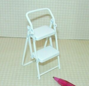 Groovy Details About Miniature White Metal Folding Step Stool For Kitchen Or Garage Dollhouse 1 12 Ibusinesslaw Wood Chair Design Ideas Ibusinesslaworg