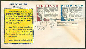 1966-Philippines-HONORING-GEN-EMILIO-AGUINALDO-First-Day-Cover-C