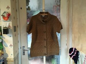 Country-Casuals-Ladies-Wool-Blend-Short-Sleeved-Cardigan-Beautiful-Condition