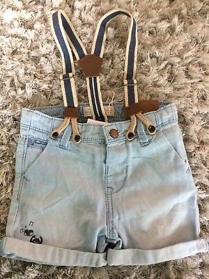 Bottoms Intellective Zara Denim Shorts With Braces 6-9 Bnwt Clothing, Shoes & Accessories