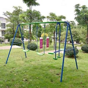 Superb Image Is Loading Kids Child Garden Swing Set Double Swing Amp