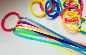 Baby sensory rainbow ribbon on linkie