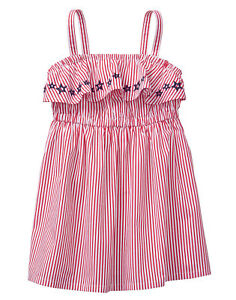 Nwt Gymboree Girls Red White /& Cute Bow Summer Dress 18-24 M NWT July 4th Stars