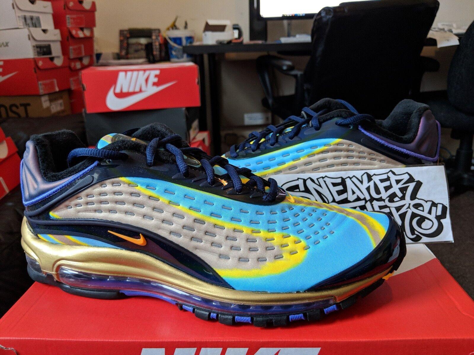 Nike Air Max Deluxe OG 2018 Midnight Navy Laser Orange Running Men's AJ7831-400