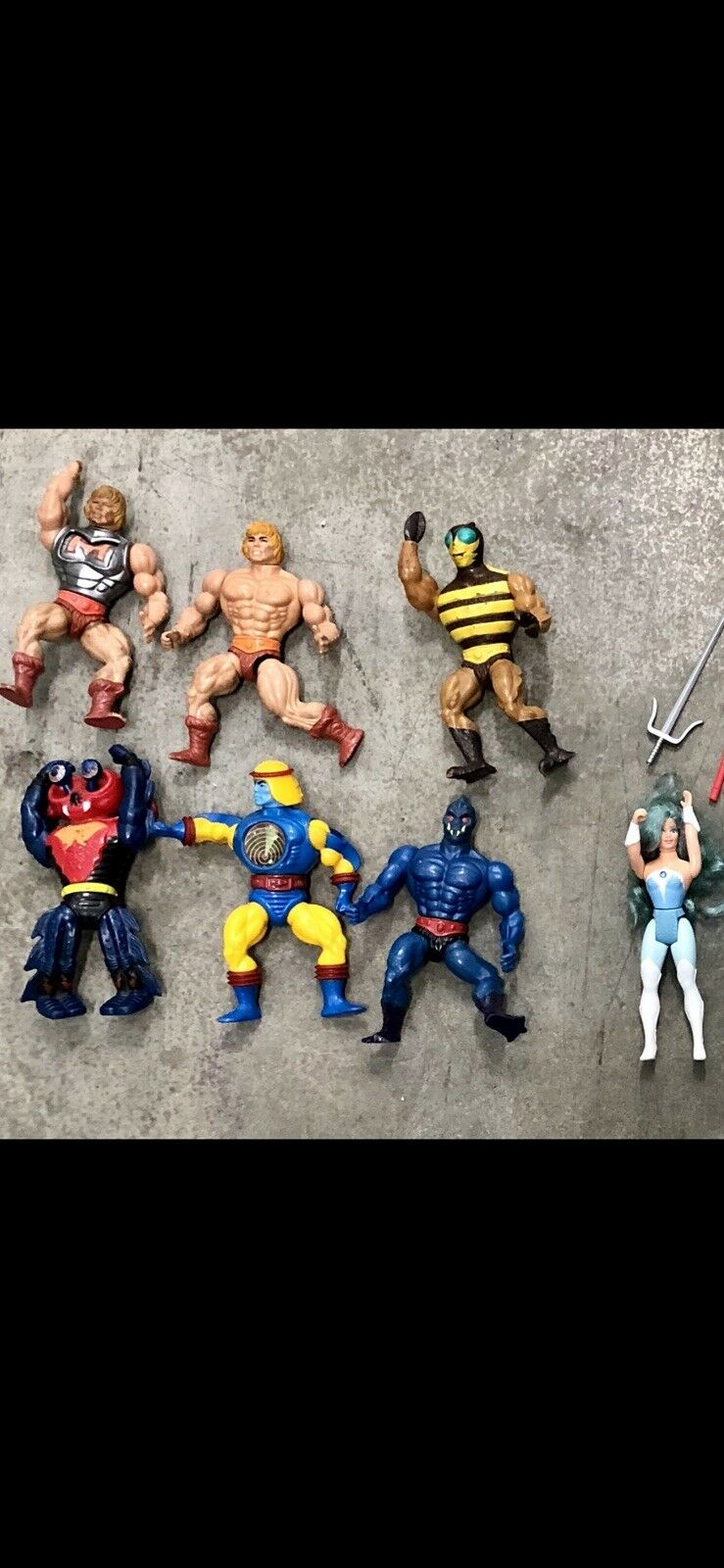 He-Man MOTU Vintage Lot of 8 Action Figures, 80's