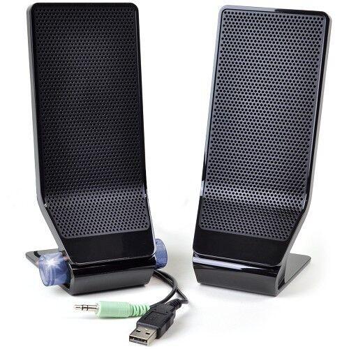 Acer MS1238US 2-Piece USB Powered PC Speaker Set w/3.5mm Jack (Black)