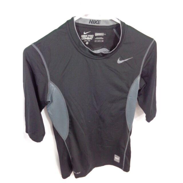 discordia Personal Devorar  Nike Pro Combat Dri-Fit Compression Shirt Black Small (405879) for sale  online