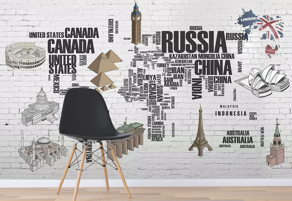 3D Famous Buildings 31 Wall Paper Exclusive MXY Wallpaper Mural Decal Indoor