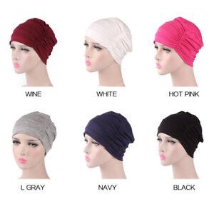 Women-Stretch-Hijab-Chemo-Caps-Headwear-Nightcap-Bonnet-Turban-Hats-Elastic-Wrap