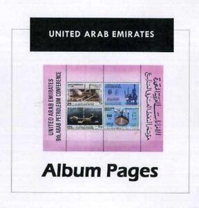 United Arab Emirates CD-Rom 1972-2014 Color Illustrated Album Pages