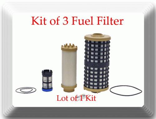 3 Fuel Filter Kit 33849 Fits Detroit Diesel  DD13 DD15 DD16 Freightliner /&