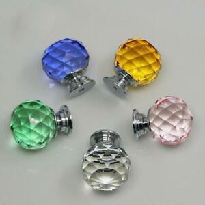 30mm-Crystal-Diamond-Glass-Pull-Handle-Door-Knob-Drawer-Cupboard-Cabinet-P3