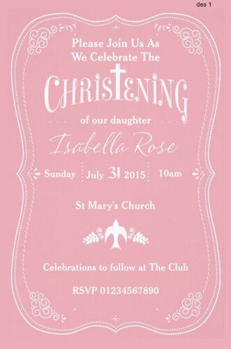 DEDICATION NAMING DAY COMMUNION INVITATIONS BAPTISM 65 OUTSTANDING CHRISTENING
