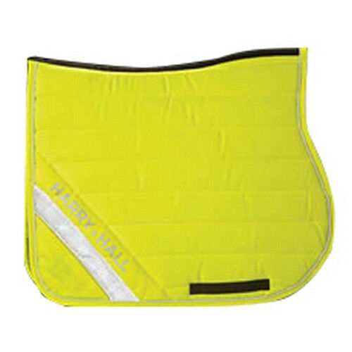 Harry Hall HiViz HKM giallo con luci LED bianco TG Pony Cob Full