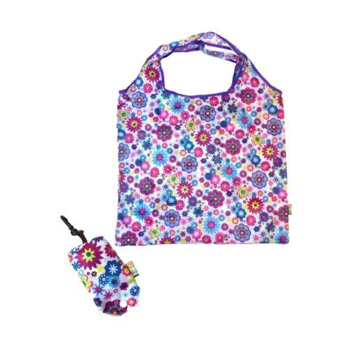 Soake Floral splash Bright Lampe réutilisables Shopping Sac bouton poussoir Pochette