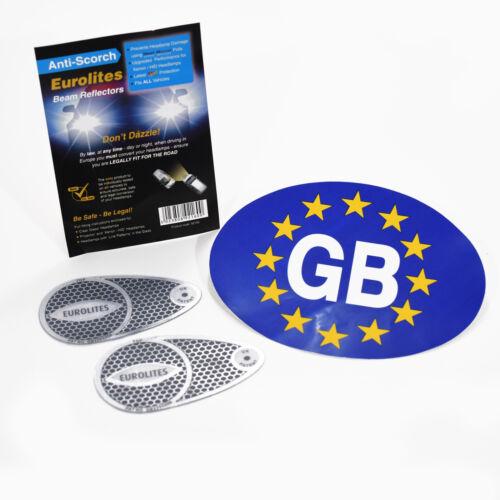 Faro De Haz Adaptadores euro desviadores de cabeza luz Convertors /& Euro GB Pegatina