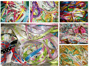 50-x-1-metre-of-Assorted-Colours-amp-Widths-Mixed-Ribbon-Off-Cuts-Bundle
